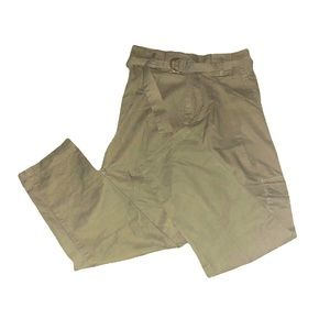 High waisted quarter length pants